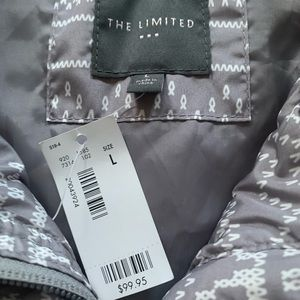 (NEW)The Limited/ Gray-Patterned Vest/ Size: Large